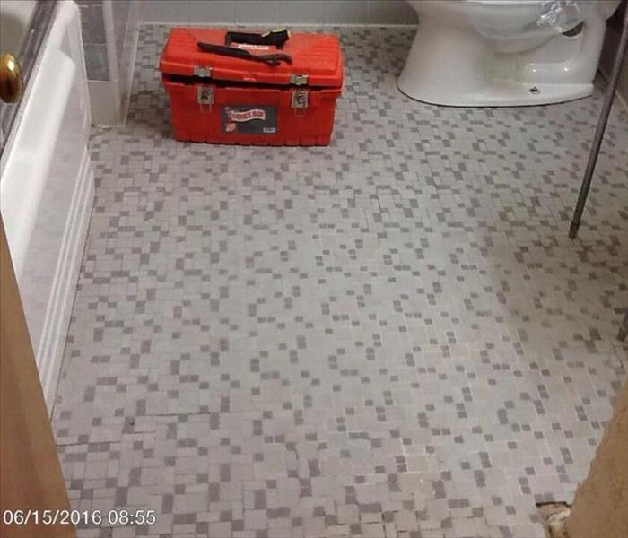 Bathroom Tile Removed Before