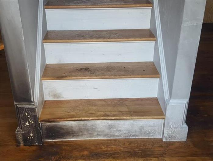 Kitchen Fire Spreads to Stairway